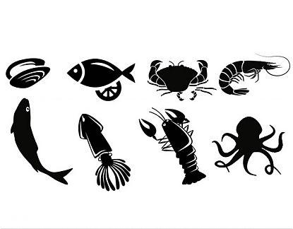 Vinilos adhesivos marisquer as y pescater as peces y for Pegatinas de peces