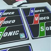 Nuevas impresiones de SUPER VIDEO SONIC para decorar laterales del mueble de tu recreativa