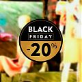 BLACK FRIDAY - Vinilo impreso personalizado a todo color especial escaparates tiendas 06133