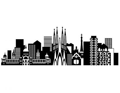 Complementos decorativos en vinilo adhesivo ciudades de for Vinilos pared ciudades