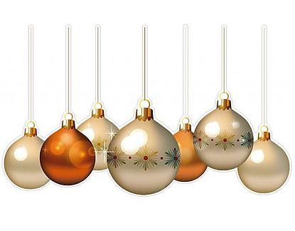 Vinilo bolas de navidad bolas navide as 7 02023 tienda - Bolas de navidad doradas ...