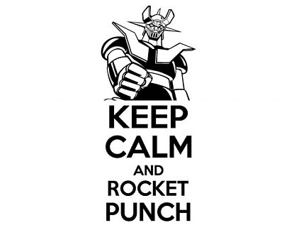 Vinilo con textos divertidos Keep calm and rocket punch 05034