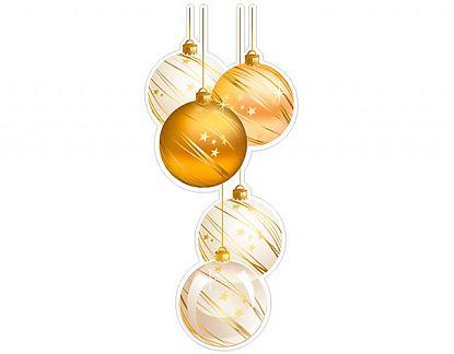 Vinilos navidad para vidrieras bolas navide as 4 01994 - Bolas de navidad doradas ...