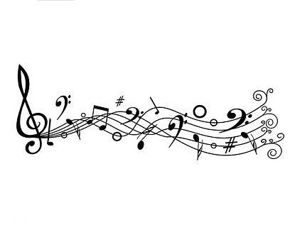 Vinilo adhesivo decoraci n notas musicales 03229 for Vinilos decorativos sobre musica