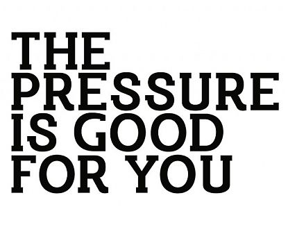 Vinilo Texto Frases en inglés The Pressure is good for you 02804