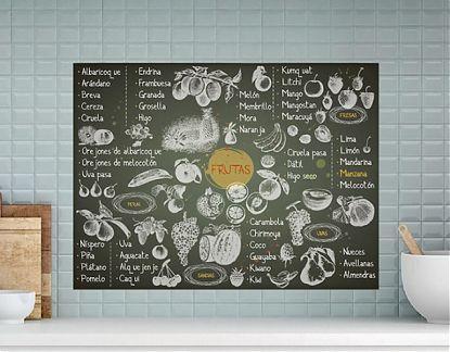 Mural Impreso Sobre Vinilo Adhesivo Especial Frutas Y Frutos 05855