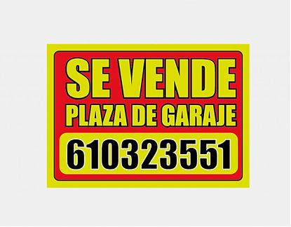 Cartel se vende plaza de garaje impreso sobre vinilo adhesivo 05284 tienda online de vinilos - Comprar plaza de garaje ...