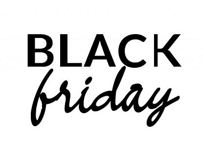 Vinilo decorativo de texto para tiendas BLACK FRIDAY 06623