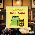 SERVICIO TAKE AWAY - Vinilo adhesivo - Vinilo Tienda signos - Pegatinas TAKE AWAY 07625