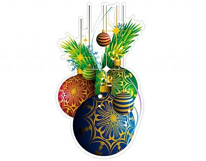 Adhesivo de Vinilo Navidad para escaparates Adornos Navidad 13