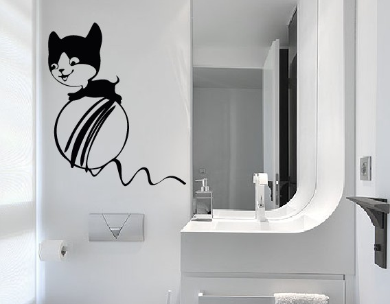 Vinilos decorativos infantiles gatos tienda online - Vinilos decorativos gatos ...