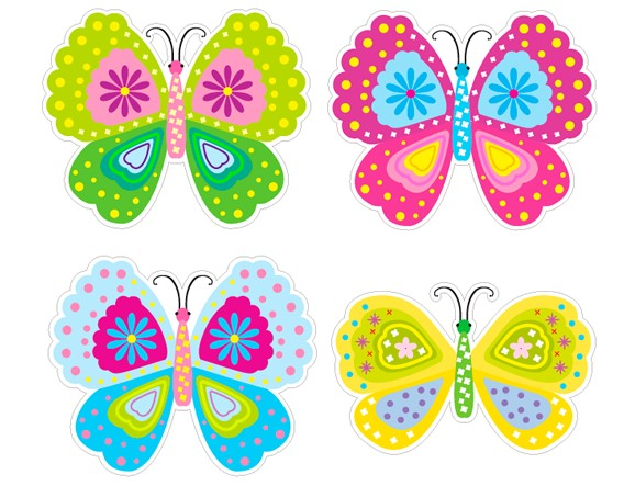 Stickers infantiles pared mariposas de colores 01767 for Stickers para decorar paredes infantiles