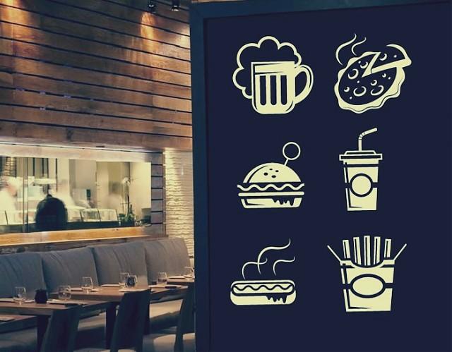 Vinilos bares y restaurantes fast food 02829 for Vinilos murales adhesivos