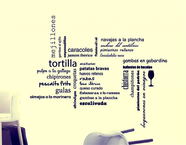 Vinilos con denominaci n de origen para bares y restaurantes for Vinilos para bares