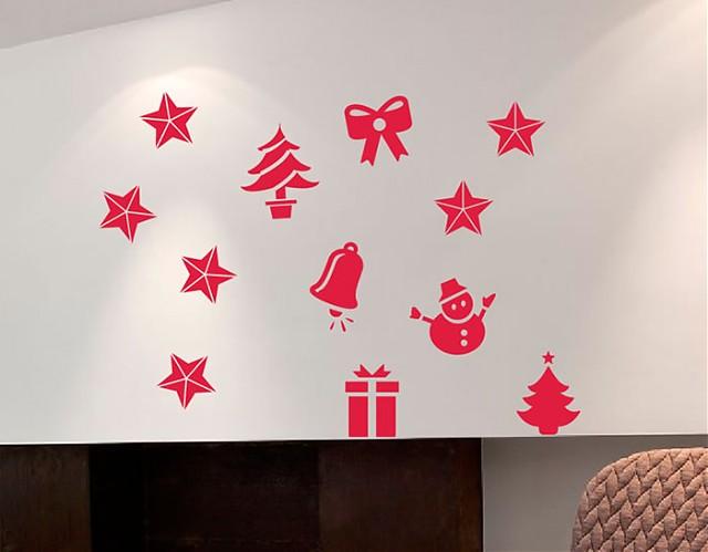 vinilos navideños para locales, escaparates, tiendas, cafeterías, bares