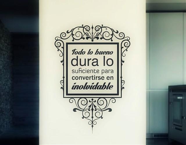 Vinilos decorativos online de pared texto y frases todo for Vinilos pared frases