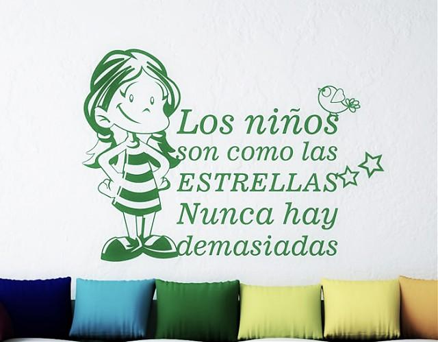 Vinilo Frases Infantiles Los Ni Os Son Como Las Estrellas