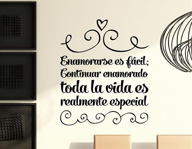 Vinilos online frases de amor enamorase es f cil - Vinilos de amor ...