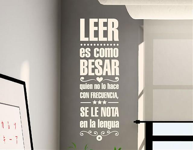 Decoraci n de paredes con vinilos con textos y frases for Frases de disenos de interiores