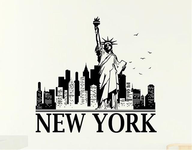 vinilos adhesivos ciudades new york 03993 tienda online de vinilos decorativos stickers. Black Bedroom Furniture Sets. Home Design Ideas