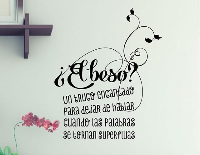 Frases y textos de vinilo el beso 03566 los mejores - Vinilos con textos ...