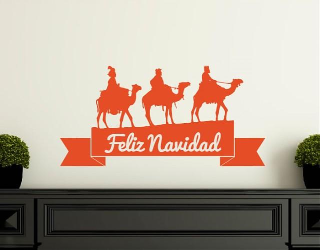 Vinilos Para La Decoracion Navidena Los Tres Reyes Magos 04056 - Decoraciones-vinilo