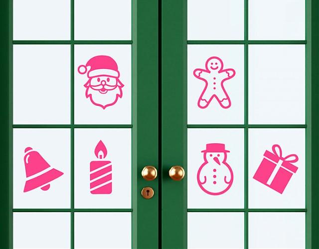 vinilos navidad escaparates, adornos árbol navidad, estrellas