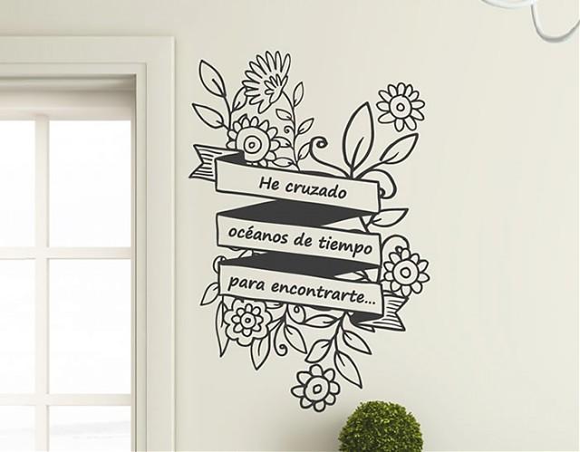 """Decoración de paredes con complementos decorativos """"He cruzado océanos de tiempo para encontrarte…"""""""