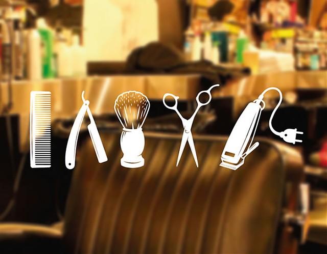 Decoraci n de peluquer as y barber as con vinilos for Decoracion de peluquerias