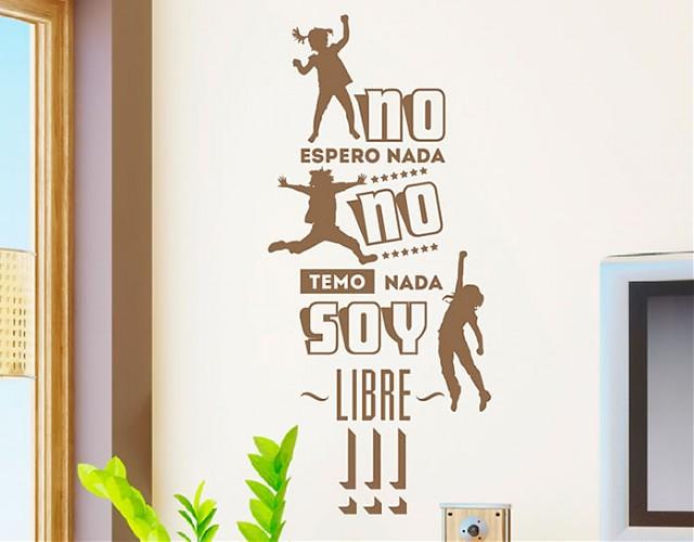 Decoraci n de paredes con vinilos de textos divertidos y for Vinilos originales pared