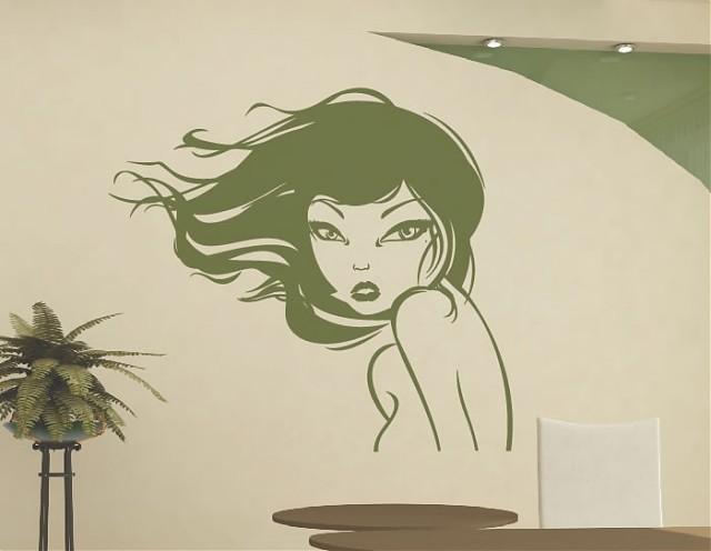 Vinilo para la decoraci n de paredes en peluquer as for Decoracion en peluquerias