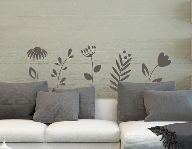Vinilos plantas para pared decoraci n vinilos naturaleza for Decoracion paredes vinilos adhesivos