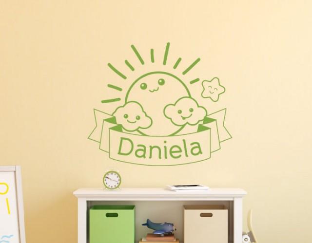 Vinilos infantiles nombre bebe 04935 tienda online de for Donde venden stickers decorativos