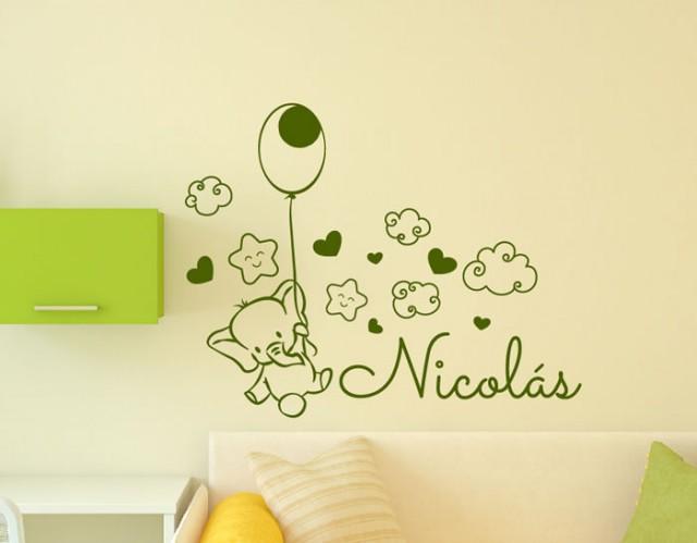 Vinilos infantiles nombre beb personalizados para la for Vinilos en habitaciones infantiles