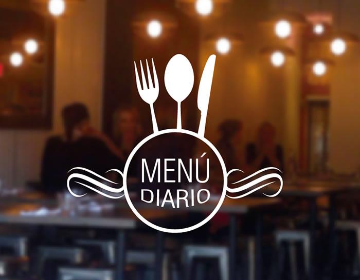 """Vinilos para bares y restaurantes """"Menú Diario"""" 04879 ..."""