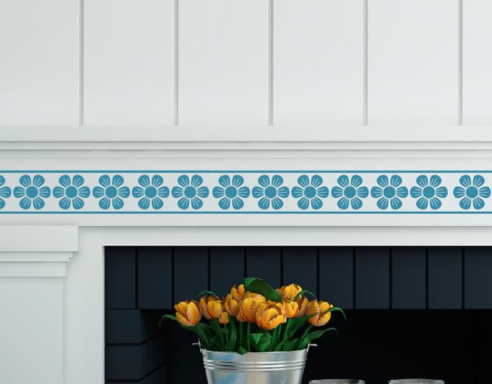 Cenefas adhesivas decoraci n azulejos y paredes naturaleza floral 04904 tienda online de - Cenefas bano adhesivas ...