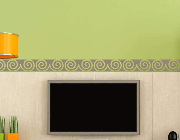 Cenefas de vinilo especiales para la decoraci n del hogar - Cenefas para espejos ...