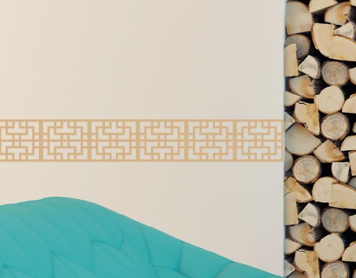 Decoración con cenefas adhesivas \