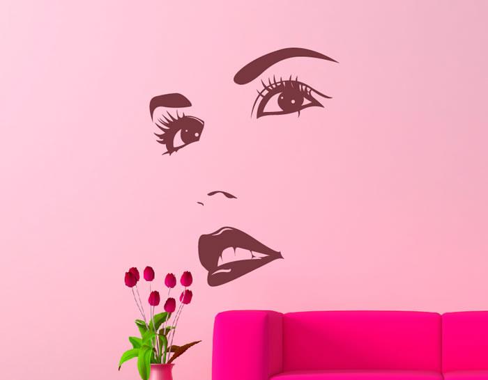 Vinilos adhesivos para peluquer as y centros de belleza for Decoracion de centro de estetica fotos