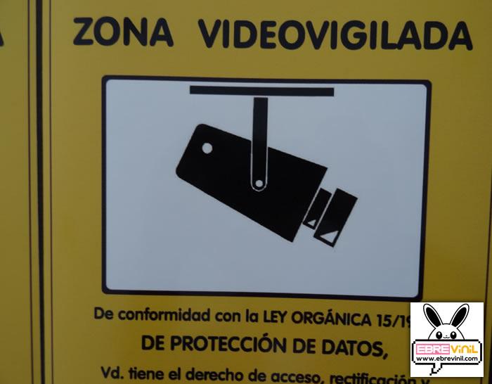 Tienda online de vinilos decorativos stickers wall art - Cartel zona videovigilada ...