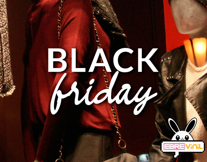Vinilo decorativo de texto para tiendas BLACK FRIDAY