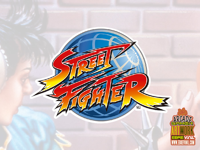 DECORACIONES BARTOP ARCADE - Street Fighter