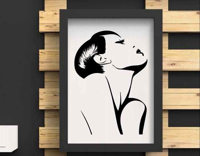 Decoraci n interior de peluquer as con vinilos decorativos - Posters para pared ...