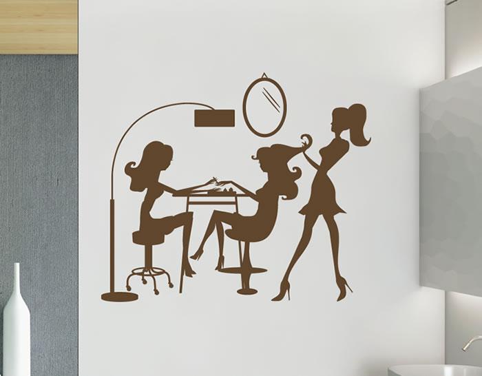 Adhesivo de vinilo decoraci n interior de peluquer as - Imagenes de centros de estetica de lujo ...