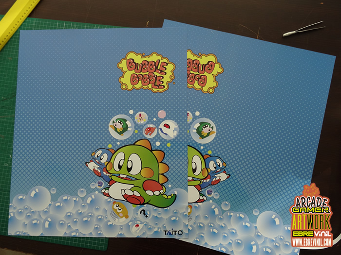 kit vinilos bartop bubble bobble