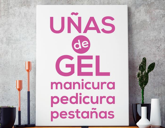 Vinilo adhesivo Uñas de Gel para Centros de Estética y ...