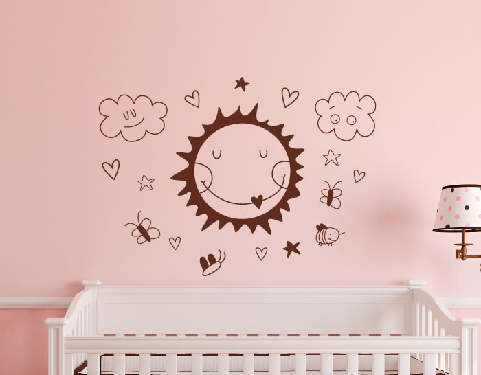 Vinilo infantil para el dormitorio de tu beb eres un sol for Vinilos pared dormitorio