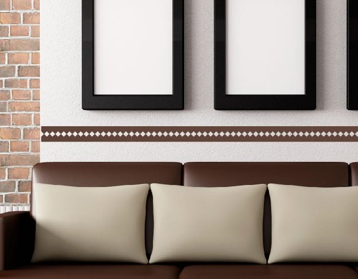 Cenefa adhesiva de vinilo rombos 04842 tienda online - Cenefas para espejos ...