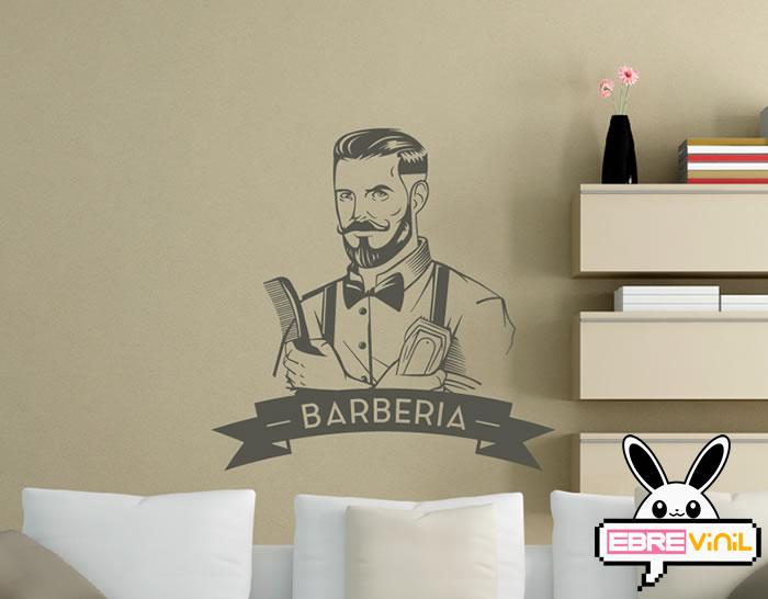 Vinilo Decorativo Para Barberías Tanto Para Paredes Como