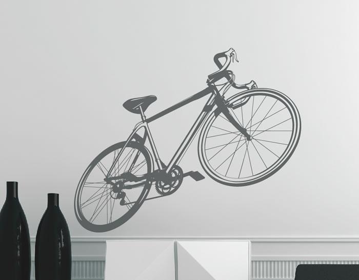 """Artesanato Russo ~ Vinilo adhesivo decoración de paredes y superficies lisas""""Bicicleta de carretera clásica"""" 04979"""